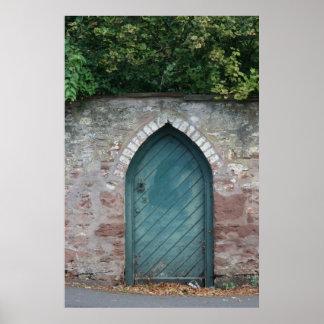 Puerta en los obispos Lydeard, Somerset, Reino Uni Póster