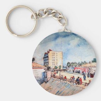 Puerta en los terraplenes de París de Vincent van  Llavero Personalizado
