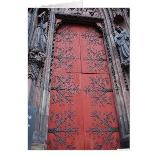 Puerta Estrasburgo, Francia de la catedral Tarjeta De Felicitación