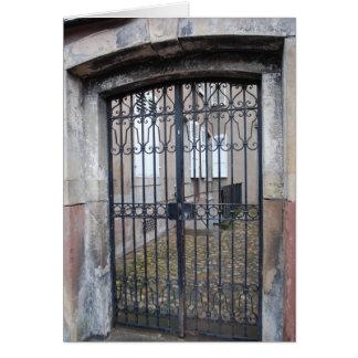 Puerta Estrasburgo, Francia de la entrada Tarjeta Pequeña