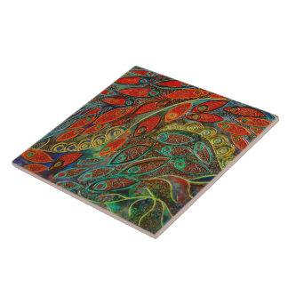 """Puerta giratoria"" (pintura) Azulejo Cuadrado Grande"