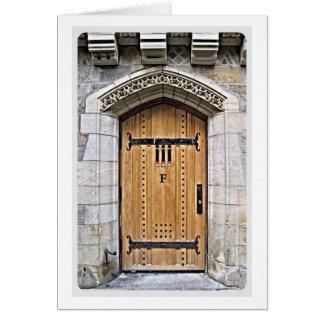 Puerta gótica F de Yale Tarjeta De Felicitación