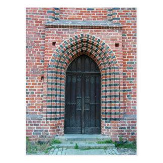 Puerta gótica postal
