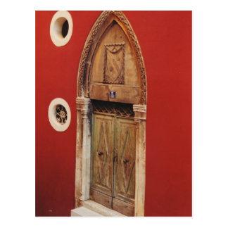 Puerta gótica tarjetas postales