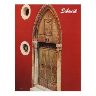 Puerta gótica tarjeta postal