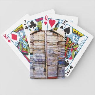 Puerta griega de madera del viejo vintage Creta G Baraja Cartas De Poker