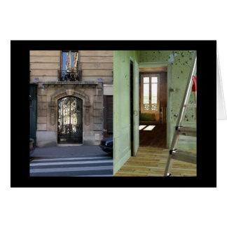 PUERTA - homenaje a Duchamp Tarjeta De Felicitación