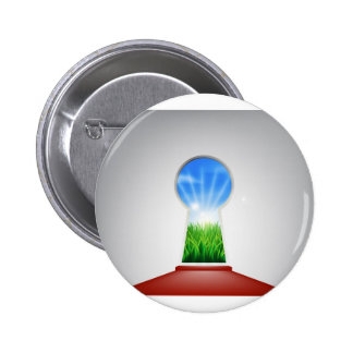 Puerta idílica del ojo de la cerradura del paisaje pin