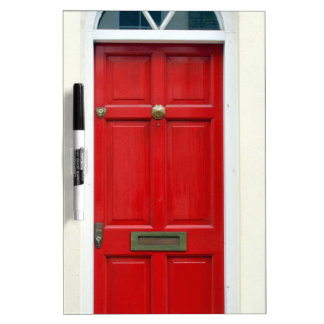 Puerta inglesa tradicional coloreada Londres de la Pizarras