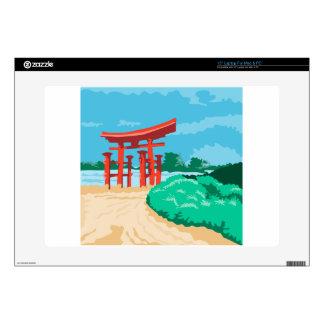 Puerta japonesa WPA de Torii Skins Para Portátiles