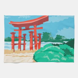 Puerta japonesa WPA de Torii Toalla