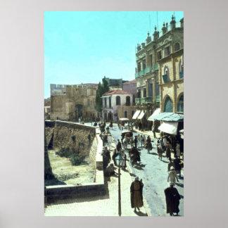 Puerta Jerusalén Israel 1950 - 1977 de Jaffa del v Póster