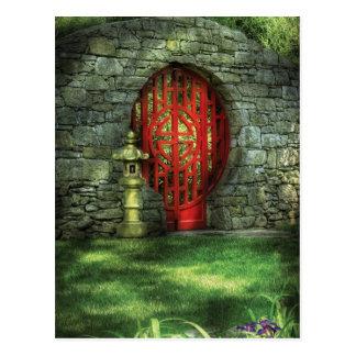 Puerta - la puerta de la luna tarjeta postal
