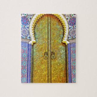 Puerta marroquí exquisitamente detallada del model rompecabezas con fotos