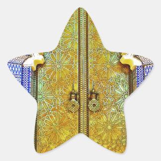 Puerta marroquí exquisitamente detallada del pegatina en forma de estrella
