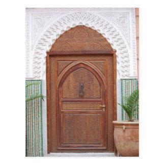 Puerta marroquí postal