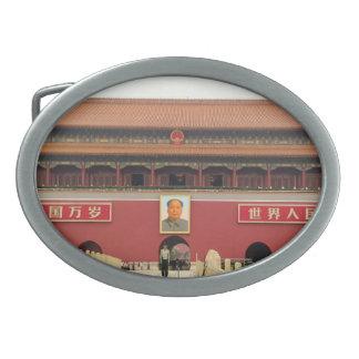 Puerta meridional de la ciudad Prohibida Hebilla De Cinturon Oval