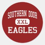 Puerta meridional - Eagles - centro - Bruselas Etiquetas Redondas