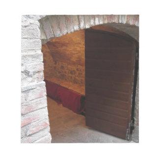 Puerta misteriosa, entrada secreta blocs de notas