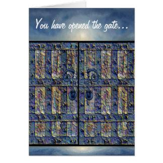 Puerta mística tarjeta de felicitación