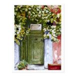 Puerta ocultada tarjeta postal