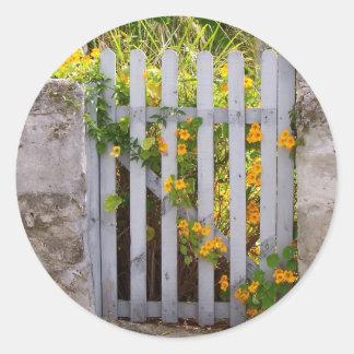 Puerta Pegatina Redonda