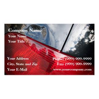 Puerta posterior abollada tarjetas de visita