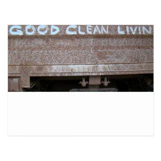 Puerta posterior Talk de buen Livin limpio ' Tarjetas Postales