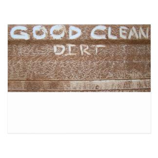 Puerta posterior Talk de la buena suciedad limpia Postal