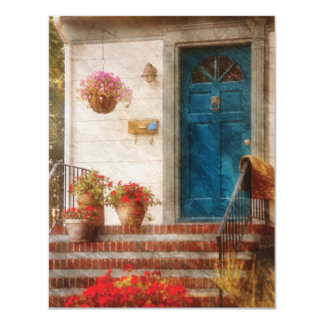 Puerta - puerta principal azul comunicados