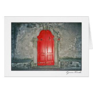 Puerta roja, Como, Italia Tarjeta De Felicitación