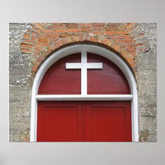 Puerta roja de la capilla poster