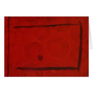 Puerta roja de S.B. Eazle Tarjeta De Felicitación