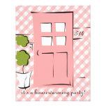 Puerta rosada bonita comunicado personal