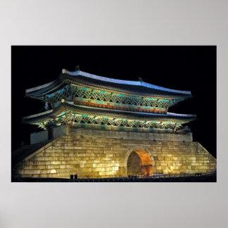 Puerta Seul de Namdaemun Póster