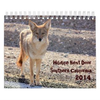 Puerta siguiente California meridional de la fauna Calendarios