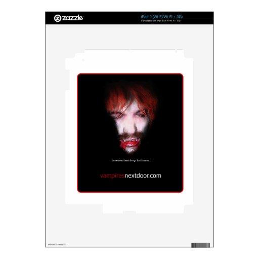 Puerta siguiente de los vampiros - mercancía iPad 2 calcomanías