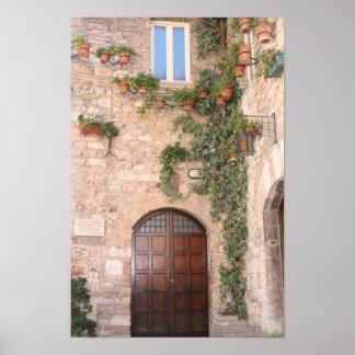 Puerta toscana póster