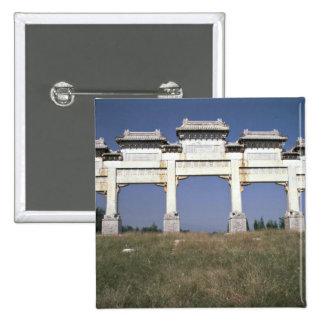 Puerta, tumbas imperiales de Ming, al norte de Pek Pins