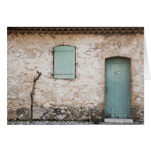 Puerta, ventana, bastón tarjeta de felicitación