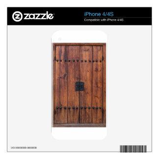 Puerta y textura del pueblo de Bukchon Hanok iPhone 4 Calcomanía