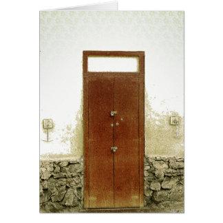 Puertas #3 tarjeta de felicitación
