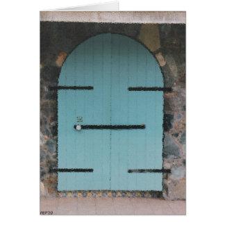 Puertas #4 tarjeta de felicitación
