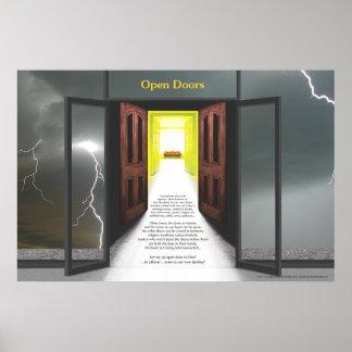 Puertas abiertas (relámpago) por José James Posters