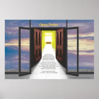 Puertas abiertas (rotura en nubes) por José James Posters