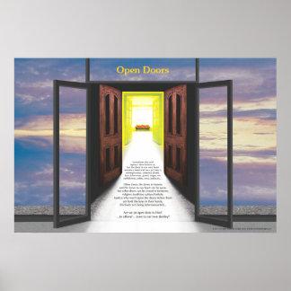 Puertas abiertas (rotura en nubes) por José James Poster