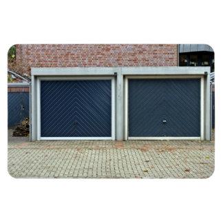 Puertas azules grandes del carro iman
