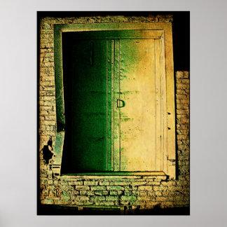 Puertas cerradas (marco doblado) impresiones