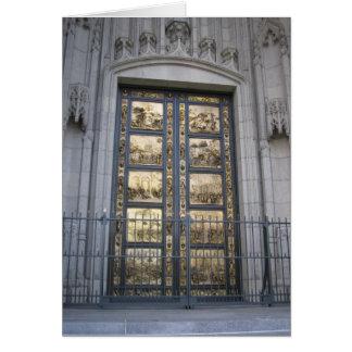 Puertas de Ghiberti Tarjeta De Felicitación