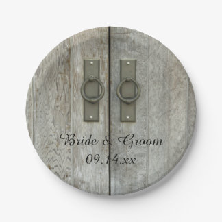 Puertas de granero dobles que casan las placas de plato de papel 17,78 cm